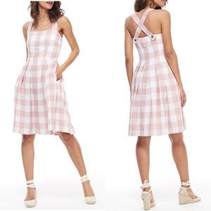Gal Meets Glam Polly Gingham Square Neck Dress